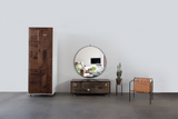 Patchwork Oxidized Maple Credenza in Blackened steel case - kith&kin makers  - 5