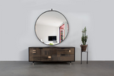 Patchwork Oxidized Maple Credenza in Blackened steel case - kith&kin makers  - 1