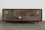 Patchwork Oxidized Maple Credenza in Blackened steel case - kith&kin makers  - 2