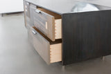Patchwork Oxidized Maple Credenza in Blackened steel case - kith&kin makers  - 3