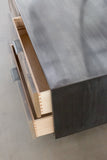 Patchwork Oxidized Maple Credenza in Blackened steel case - kith&kin makers  - 4