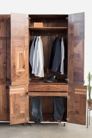 Patchwork Walnut Wardrobe