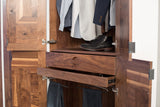 Patchwork Walnut Wardrobe - kith&kin makers  - 8