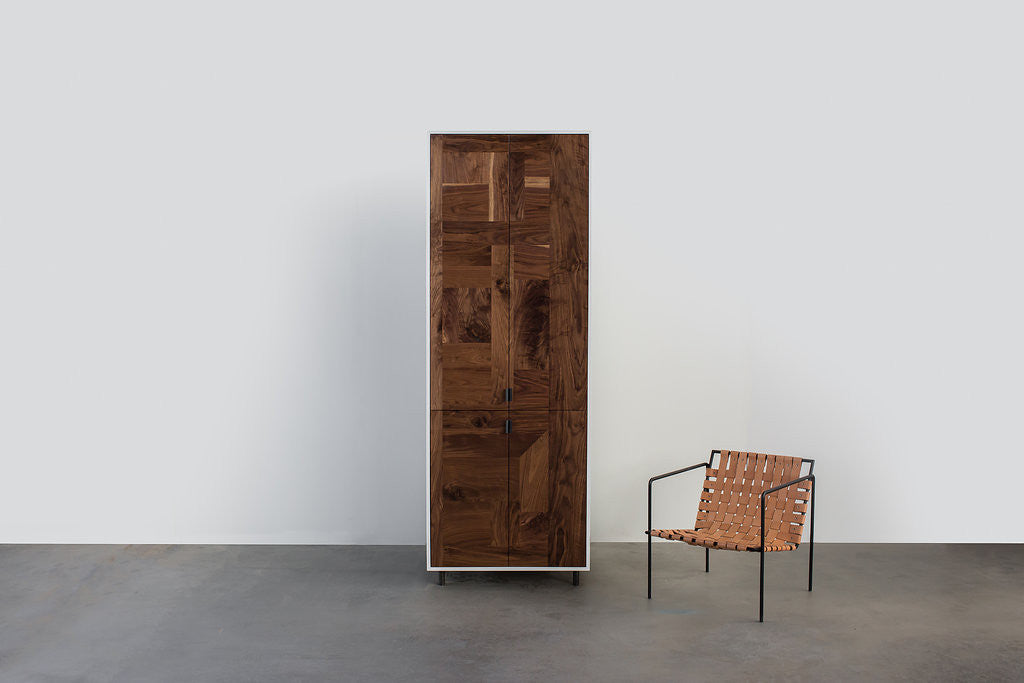 Patchwork Walnut Wardrobe - kith&kin makers  - 1