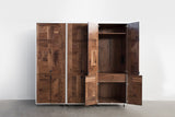 Patchwork Walnut Wardrobe - kith&kin makers  - 3