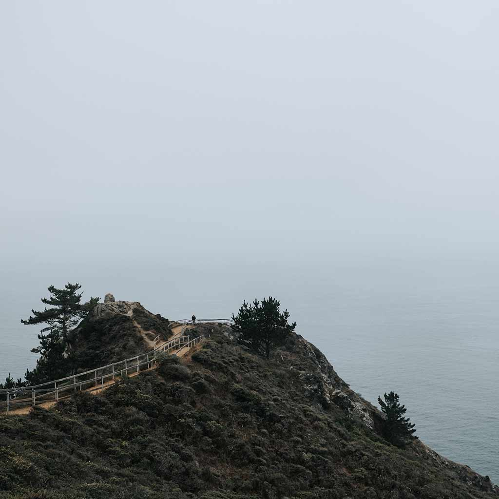 Muir overlook on ocean