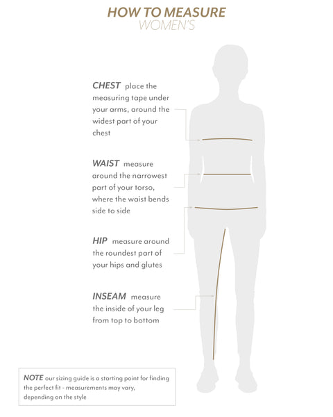 How to measure for sizing