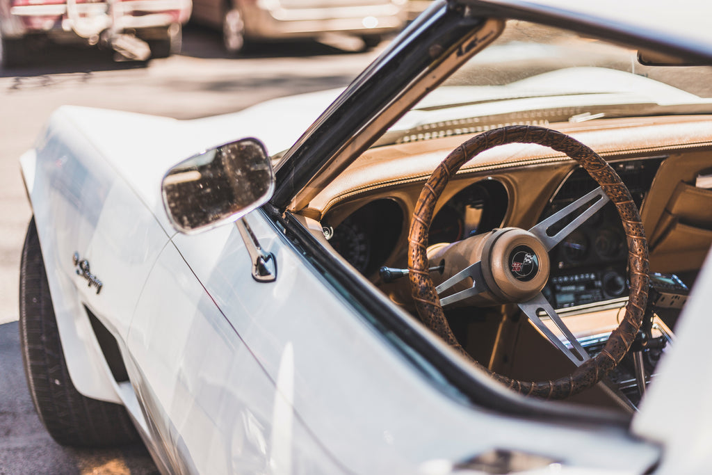 The interior of a beautiful classic car