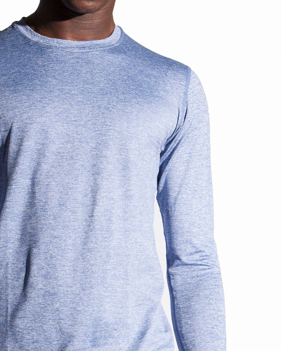 Runner's Choice Long Sleeve in Heather Blue