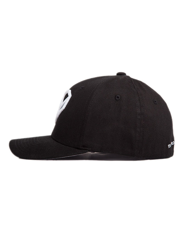 Midnight Black Fitted Hat - Strongbody Apparel  - 3