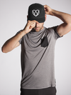 Carbon Black Snapback Hat - Strongbody Apparel  - 1