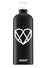 SBA Imprinted Heart Water Bottle