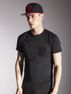 Bonfire Red & Black Snapback Hat - Strongbody Apparel  - 3
