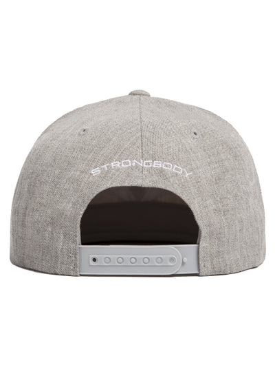 Snapback Heather Grey Hat with Diamond Heart Logo