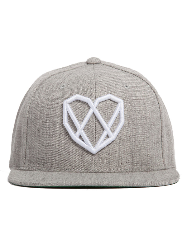 Avalanche Grey Snapback Hat - Strongbody Apparel  - 3