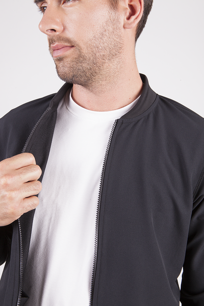 This is a lightweight 4 way stretch bomber jacket