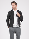 The Uptown Jacket is a bomber style jacket in black