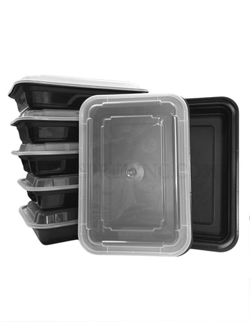 Microwavable Plastic Black Food Storage Container NC868B - Newspring
