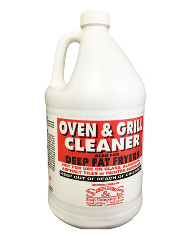 Oven & Grill Cleaner Liquid - S&S - 1 gallon