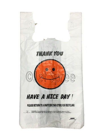 1/6 Happy Face Plastic Bag 200 Count