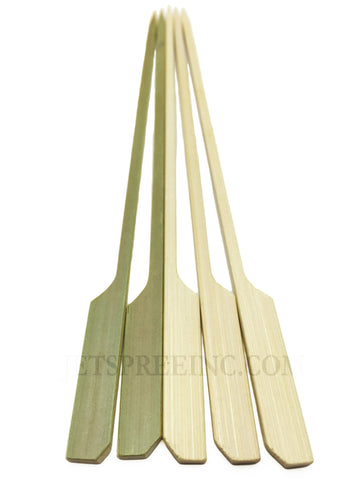 Paddle Bamboo Skewer Sticks 7 Inch