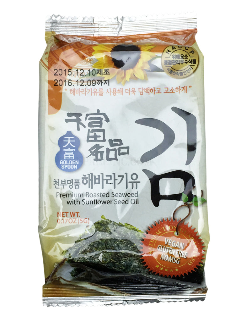 Premium Roasted Seaweed with Sunflower Seed Oil - Golden Spoon - jetspreeinc.com