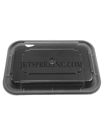 Microwavable Black Food Storage Container NC8168B - Newspring