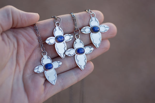 Lapis Lazuli and Sterling Necklace