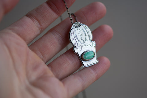 Carico Lake Turquoise Cactus Necklaces