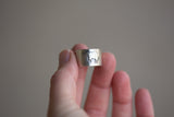 Sterling Cuff Ring - Elephant Design - Adjustable Size 7-8