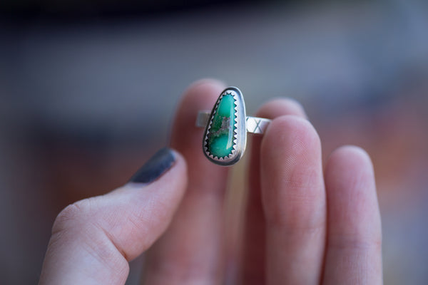 Natural Damele Turquoise Ring - Size 6