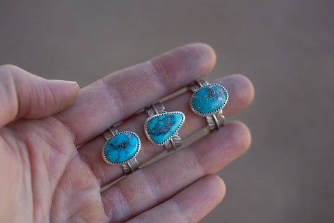 Kingman Turquoise Ring -Watch Me Fly