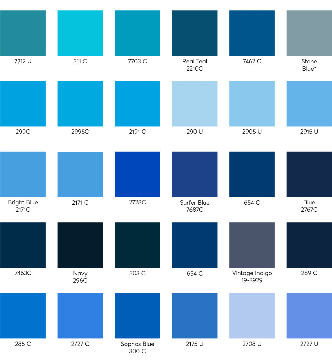 Custom Color Swatches - Cotton 3