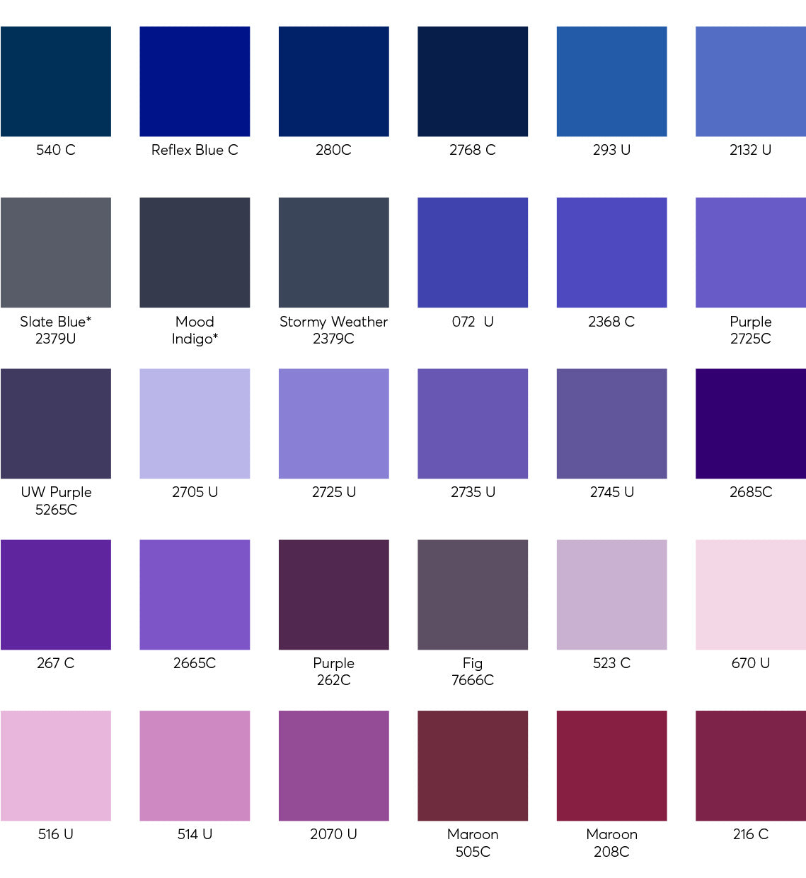 Custom Color Swatches - Cotton 4