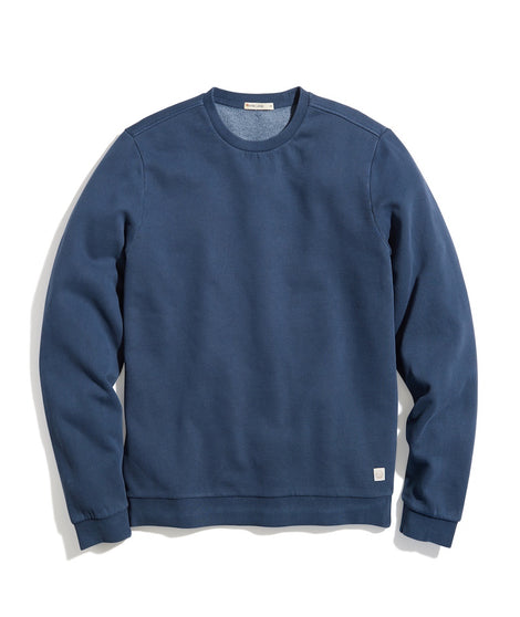 Garment Dye Crew Sweatshirt in Dark Denim