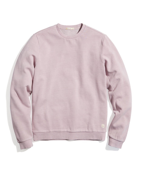 Garment Dye Crew Sweatshirt in Mauve Shadows