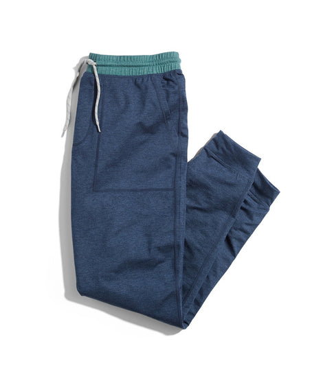 Sport Yoga Jogger in Navy Heather/Mallard Heather