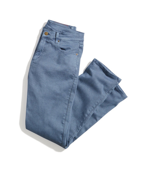 Slim Straight 5 Pocket Twill Pant in Bering Sea