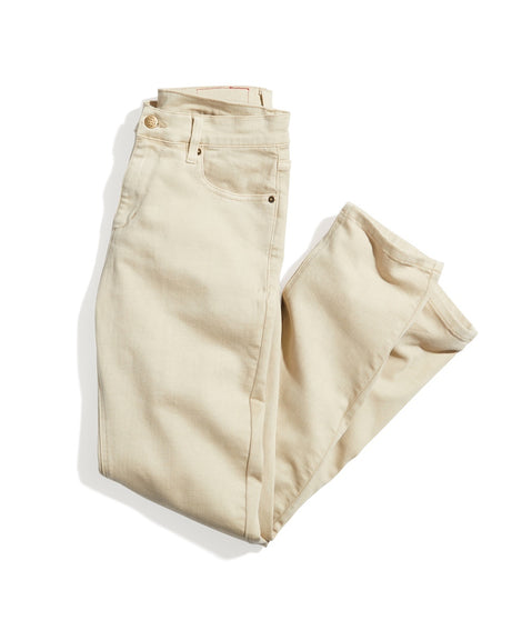 Slim Straight 5 Pocket Twill Pant in Natural