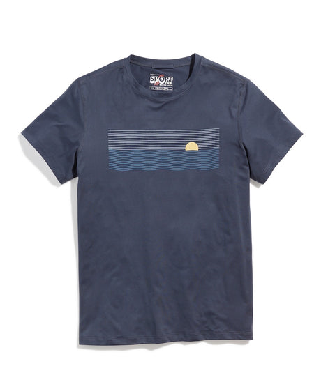 Sport Crew Graphic Tee in Midnight Navy
