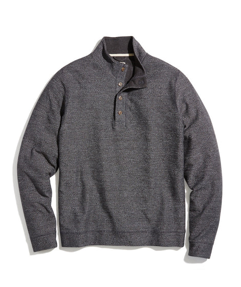 Clayton Textured Pullover in Pirate Black