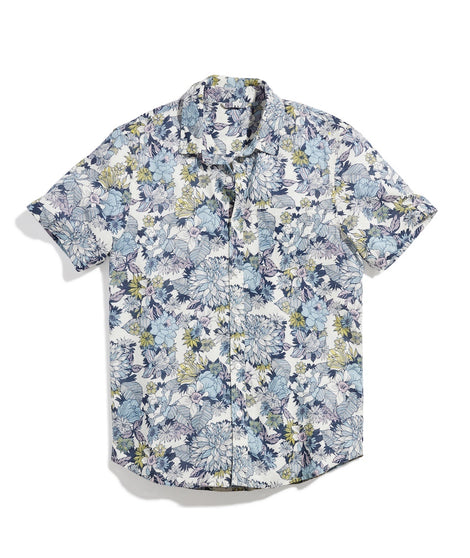 Lightweight Cotton Shirt in Multi Floral Print