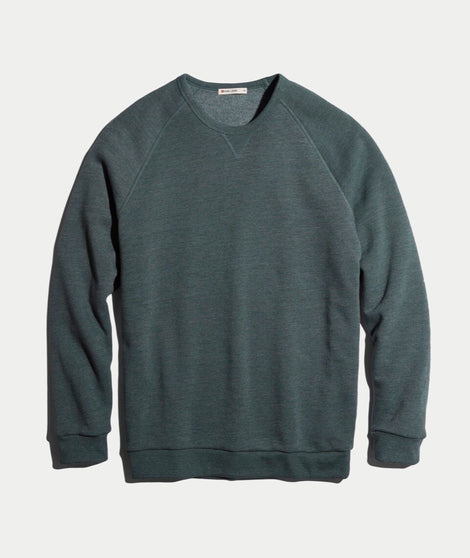 Nolan Crewneck in Forest Green