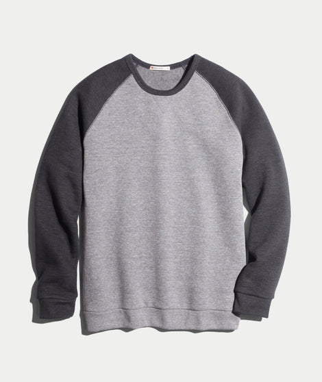 Nolan Crewneck in Heather Grey/Charcoal