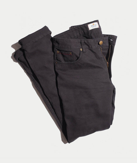 Beck 5 Pocket Pant in Faded Black