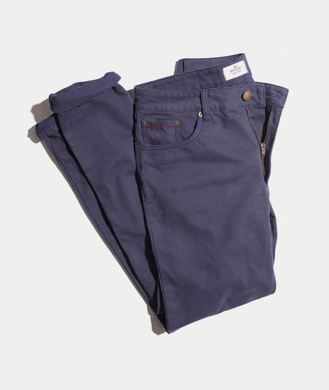 Beck 5 Pocket Pant in Blue Nights