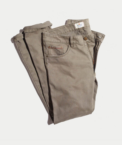 Beck 5 Pocket Pant in Worn Olive