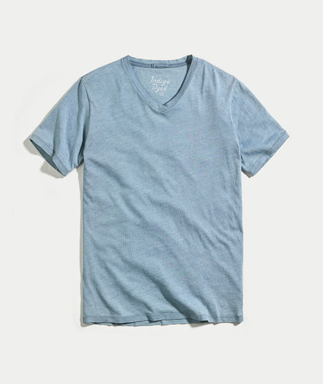 Signature V-Neck - Faded Indigo