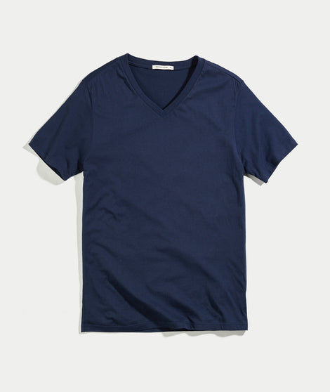 Signature V-neck Tee - True Navy