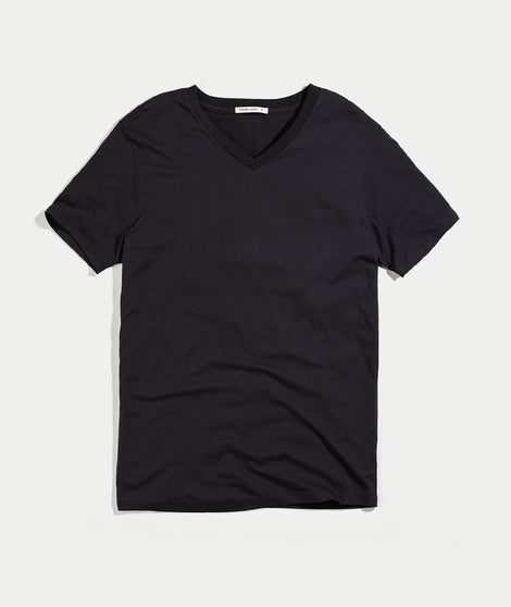 Signature V-Neck Tee - Black
